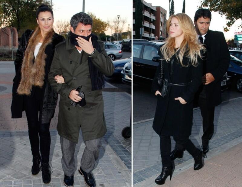 Shakira y Alejandro Sanz acudieron a la misa en honor a Irene Vázquez, quien fue su representante y amiga.