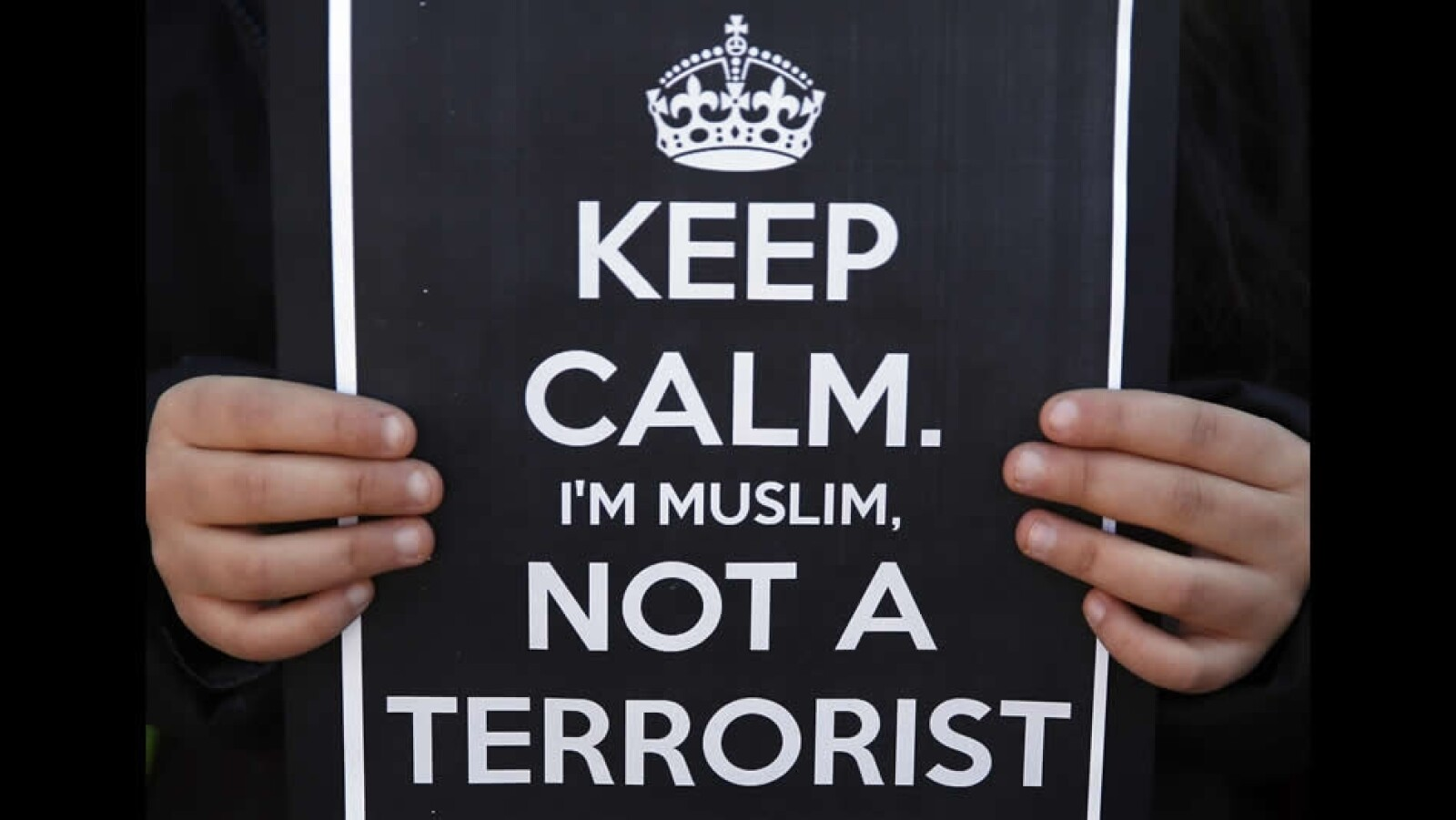 Pancarta terorista musulman islam Espana