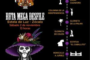 Esta será la ruta del Mega Desfile del Día de Muertos este 2 de noviembre.