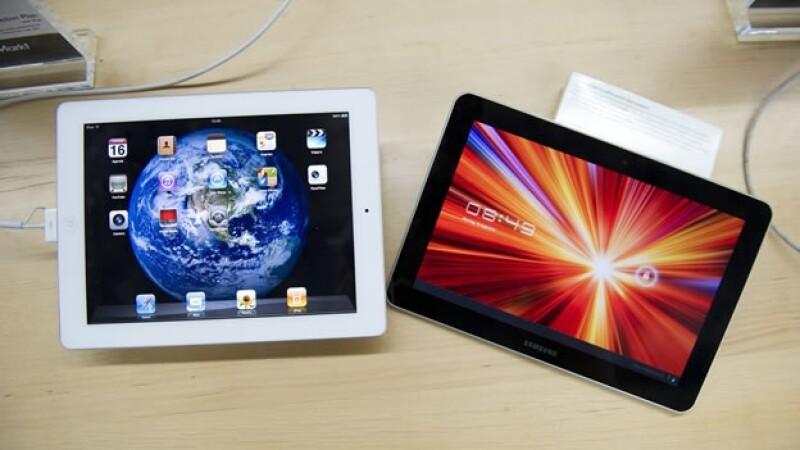 Comparación de tabletas Samsung y Apple