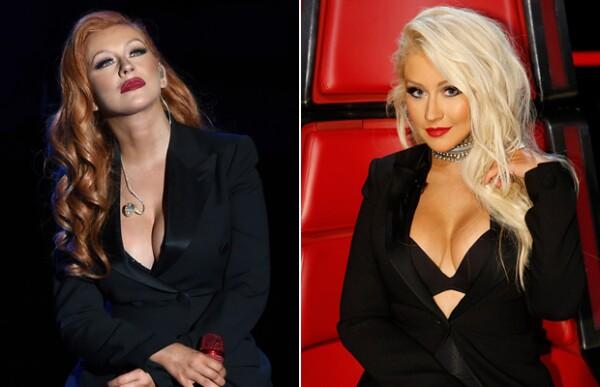 Christina Aguilera dejó su característico pelo platinado por un pelirrojo.