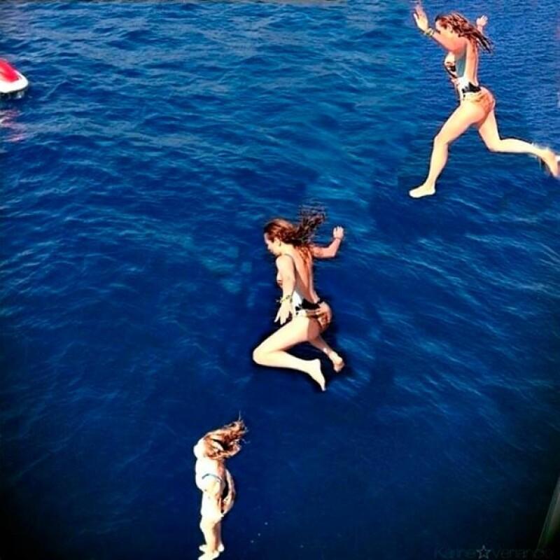 Thalía compartió esta imagen durante sus vacaciones por Italia.