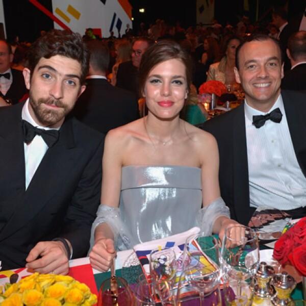 Carlo Borromeo, Carlota Casiraghi y Marco Fiorese.