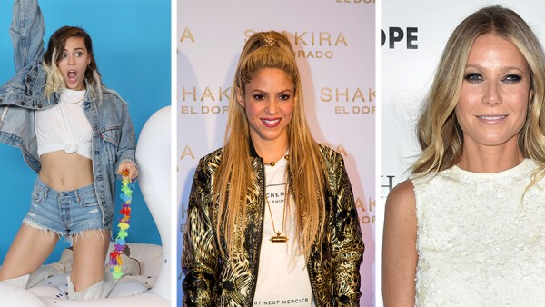 Miley Cyrus, Shakira y Gwyneth Paltrow