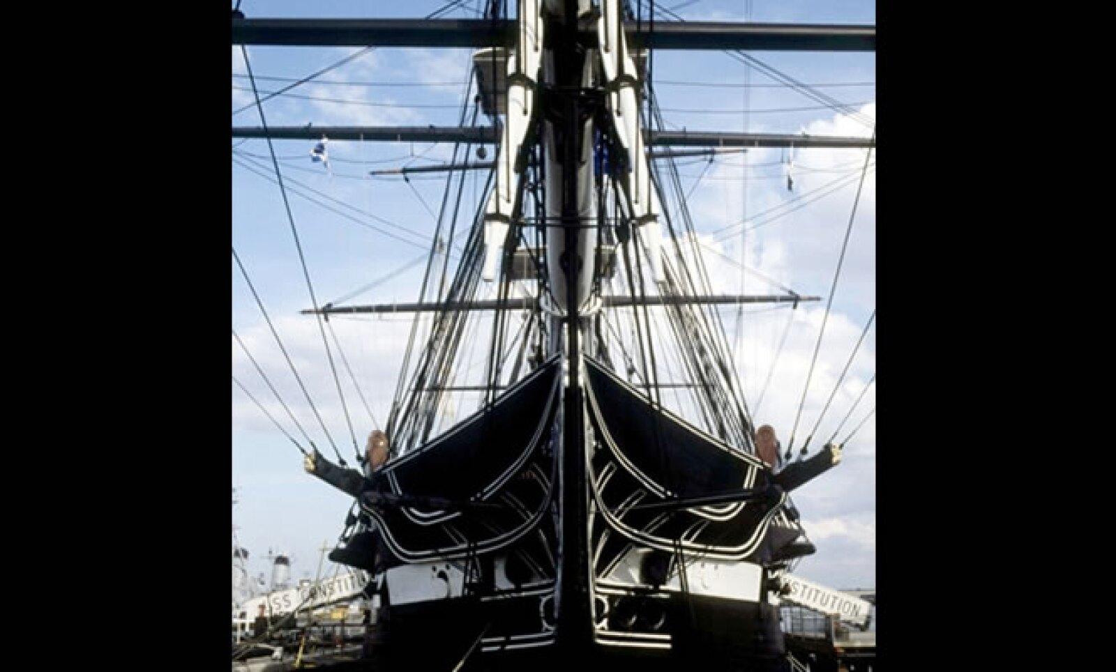 Este barco estuvo en batallas navales contra los inmigrantes ingleses. Luchó 35 veces en altamar, ganando todos sus encuentros.