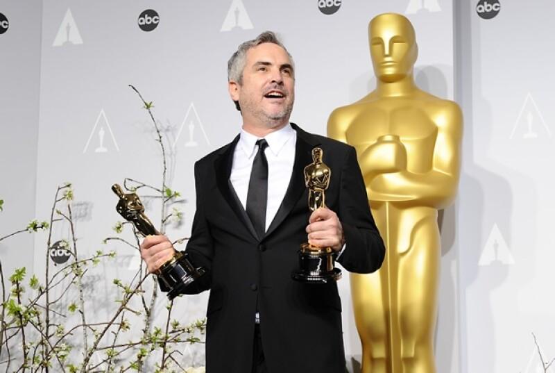 El director mexicano dijo, tras recibir el Oscar, que agradecía el festejo en su país, pero que esperaba más apoyo al cine con temas locales.