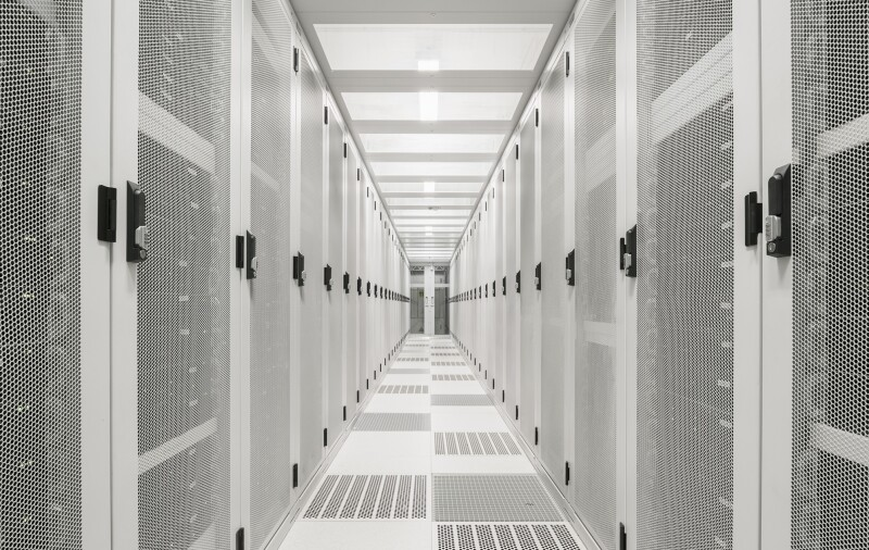 Interior of data centre