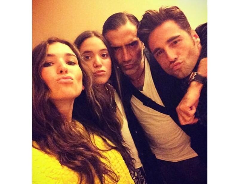 Karla, América Fernández, Alejandro y David Bustamante.