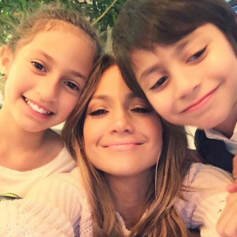JLo con Max y Emme