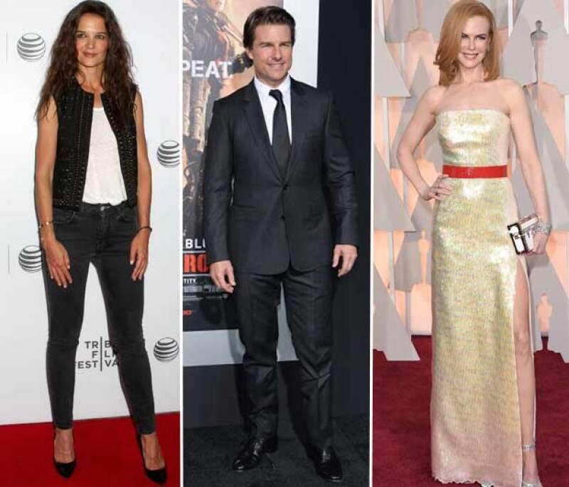 Katie Holmes y Nicole Kidman fueron esposas de Tom Cruise.