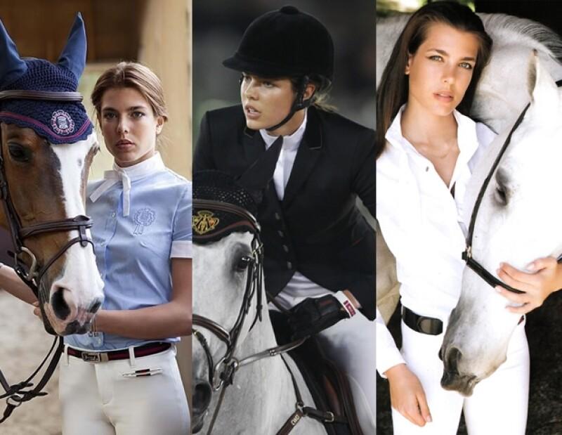Carlota realiza equitación desde los cuatro años. Aquí porta piezas de la colección de la firma Gucci confeccionada especialmente para ella.