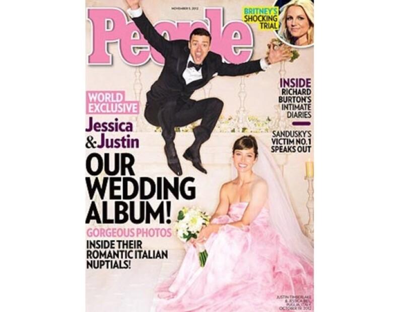 Jessica Biel se casó de rosa.