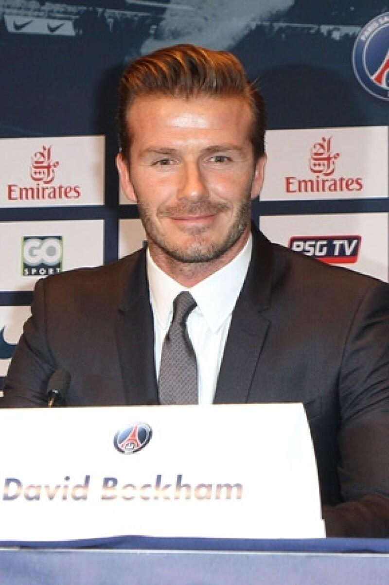 David ofreció una conferencia para hablar de su nueva `casa´ el equipo Paris St Germain.