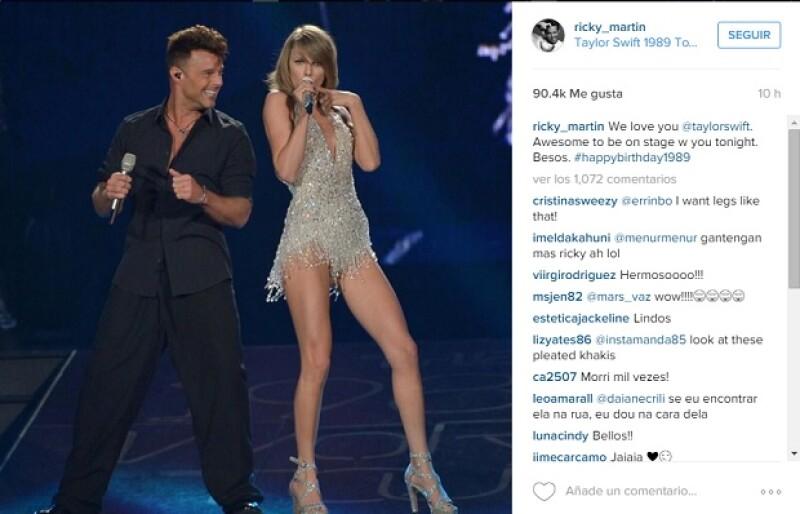 El cantante puertorriqueño reconoció la profesionalidad de la estrella de pop, en cuyo show apareció hace unos días.