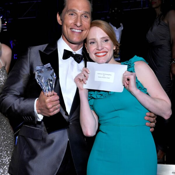 Matthew McConaghey y Jessica Chastain.