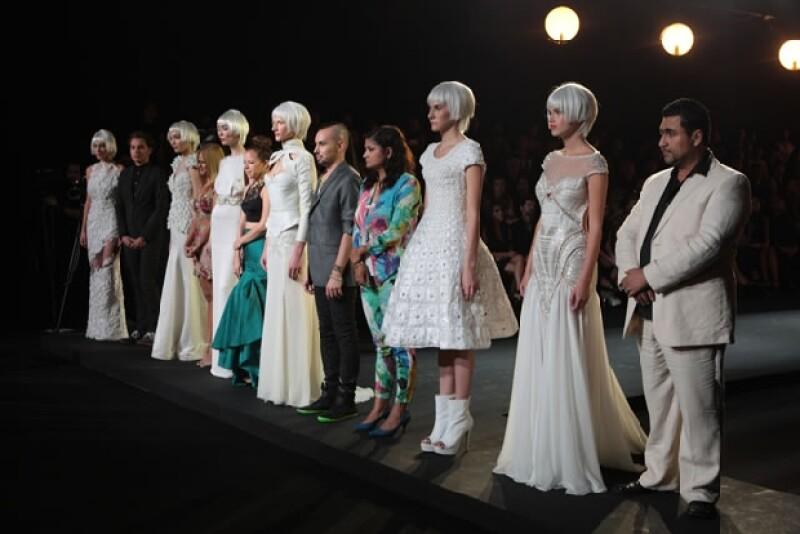 Fueron 14 diseños finalistas de Haute Couture en Blanc.