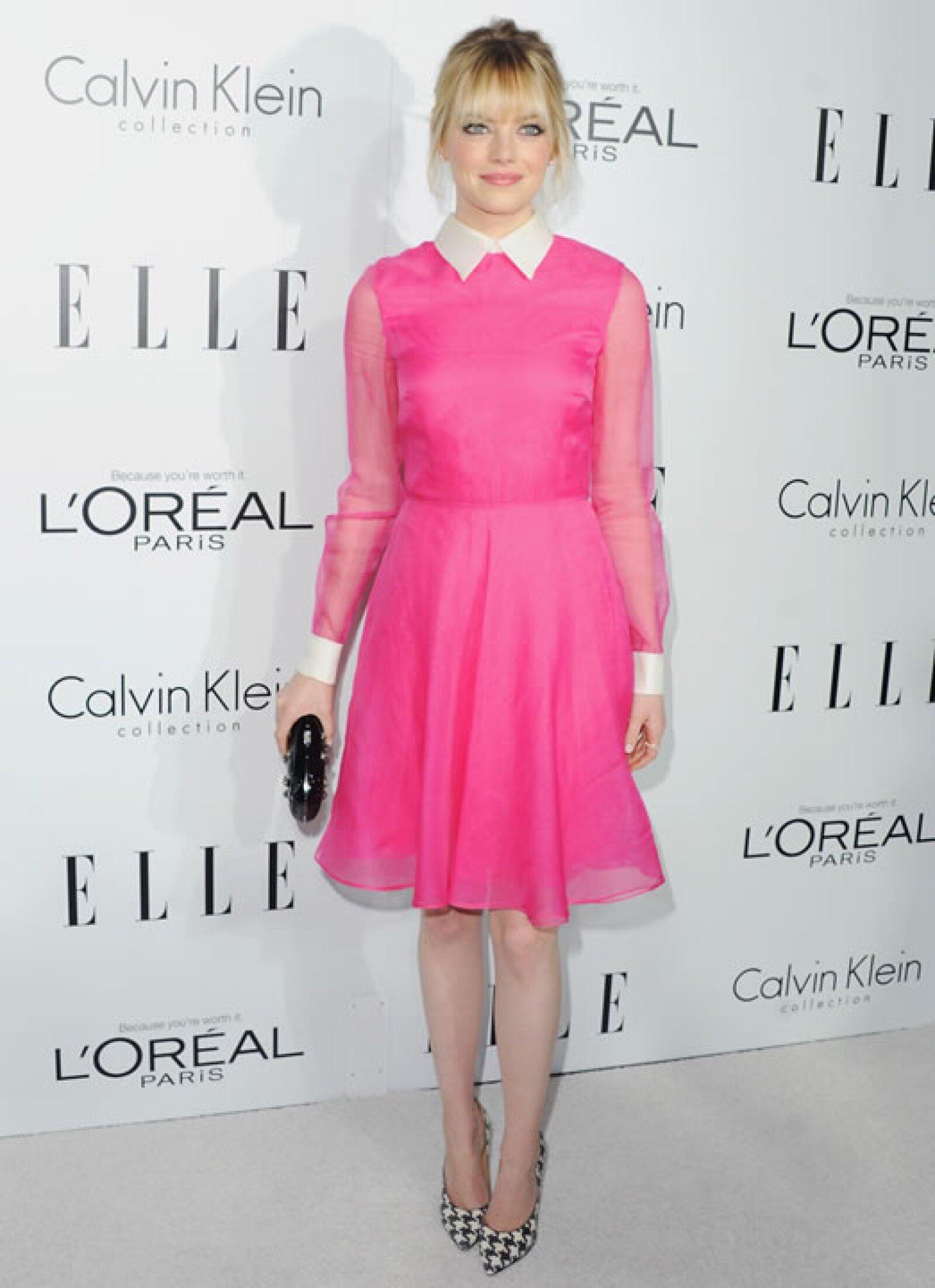 Emma Stone- `Mira, parece una hemorroide sexy´.