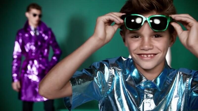 Romeo se estrenó en el mundo del modelaje con esta campaña.