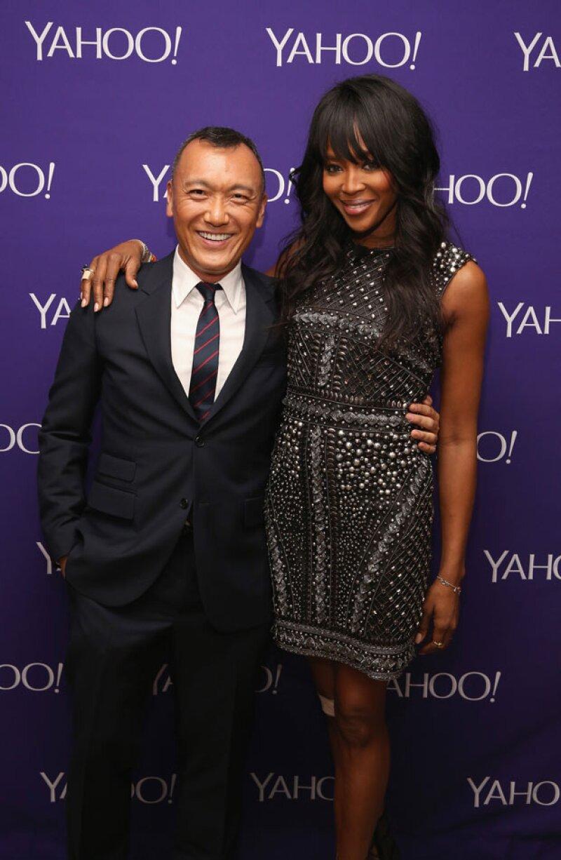 Naomi con Joe Zee en Yahoo Digital Content en Nueva York.