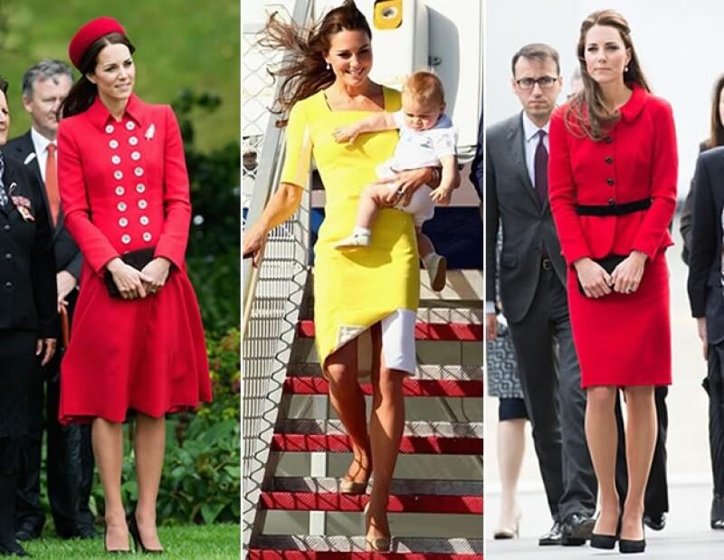 Kate Middleton durante su tour por Australia y Nueva Zelanda.