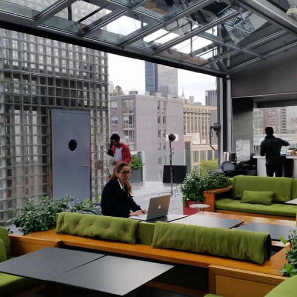La terraza del Hotel Americano fue uno de los espacios utilizados para realizar las fotos valiéndose de su espectacular vista.