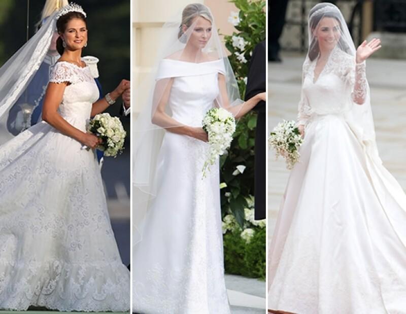 Magdalena de Suecia, Charlene de Mónaco y Catherine Middleton.