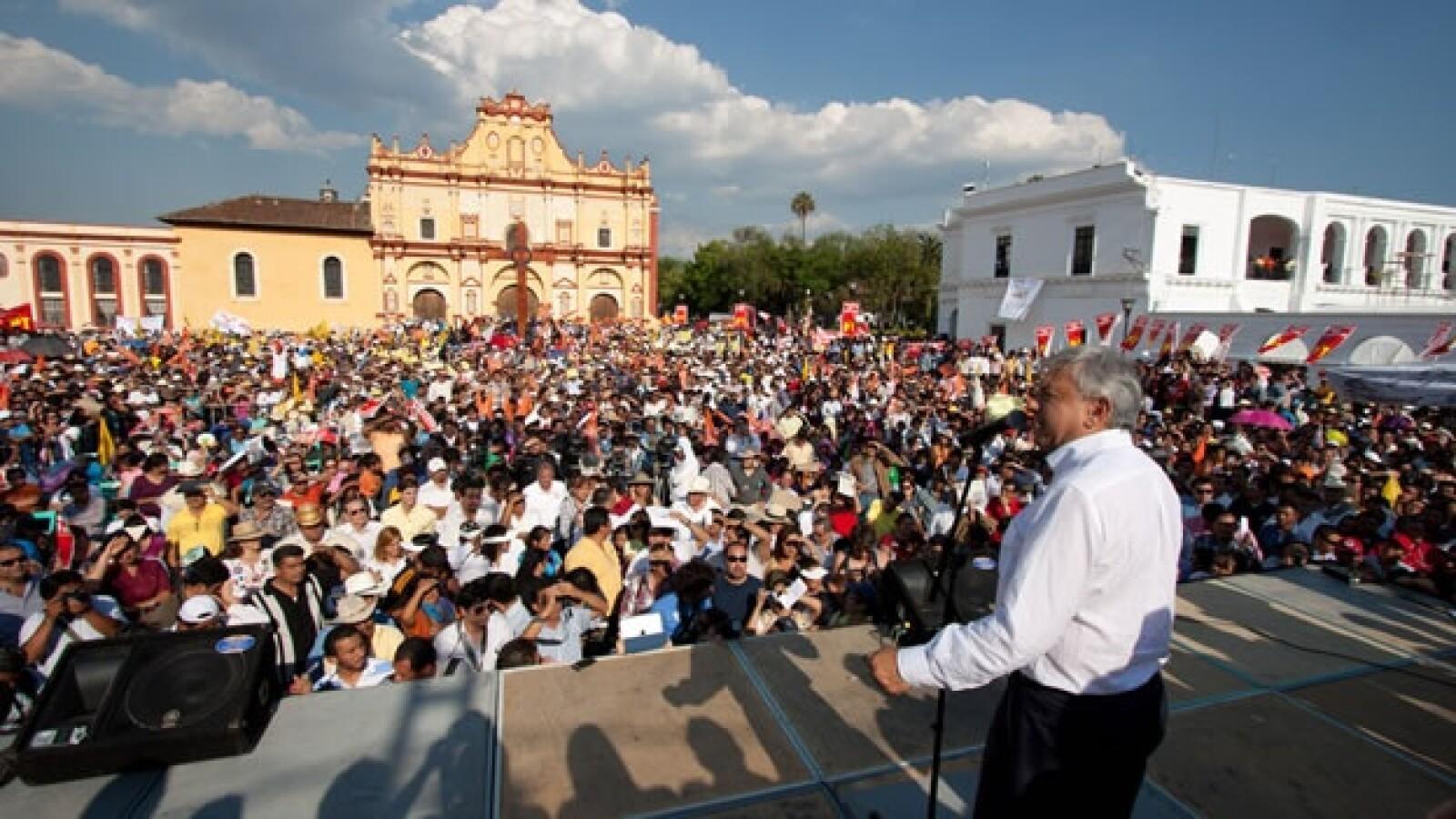 Andrés Manuel López Obrador realizó mitin en Chiapas