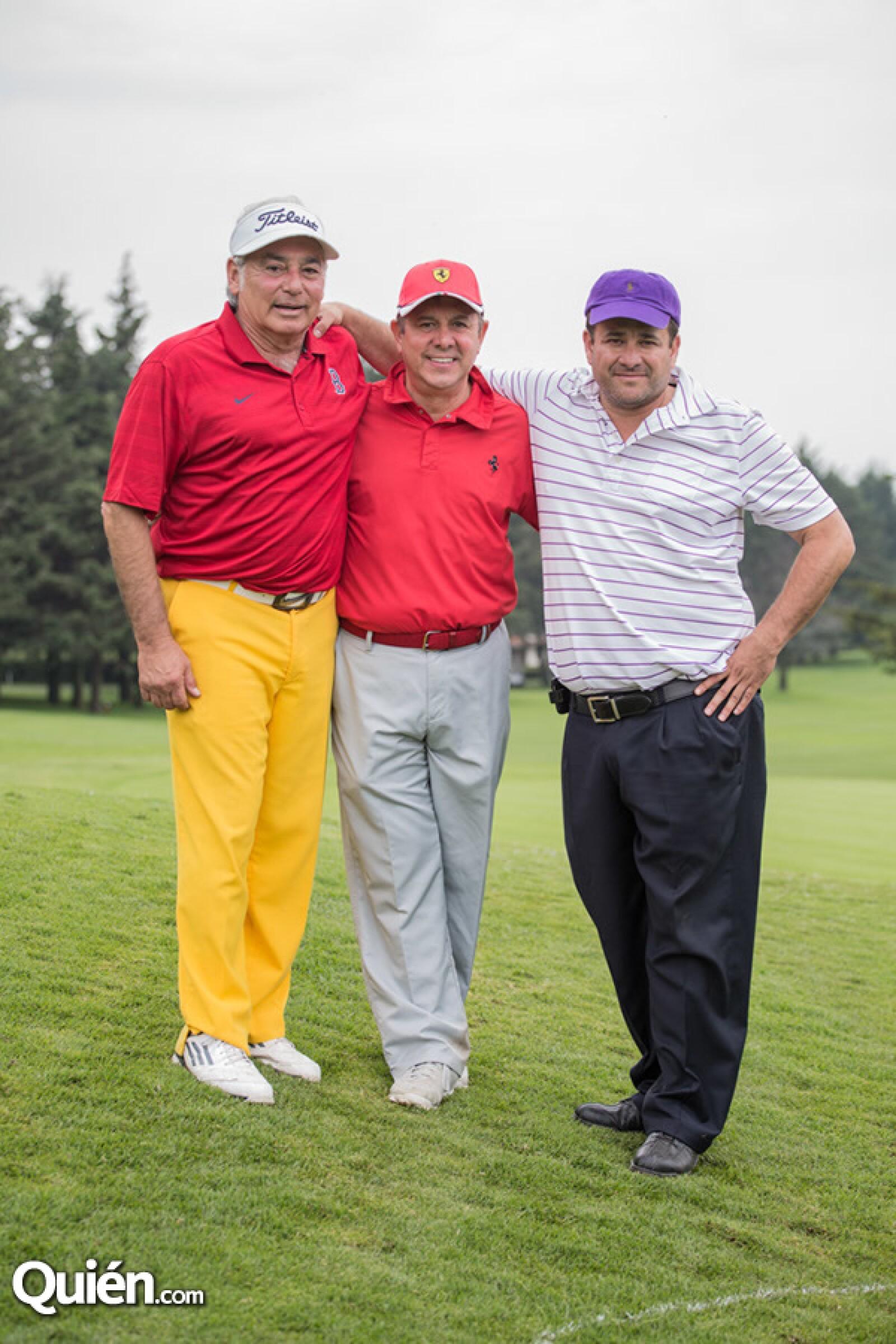 Manuel Garza, Billy Solano y Ángel Carmona