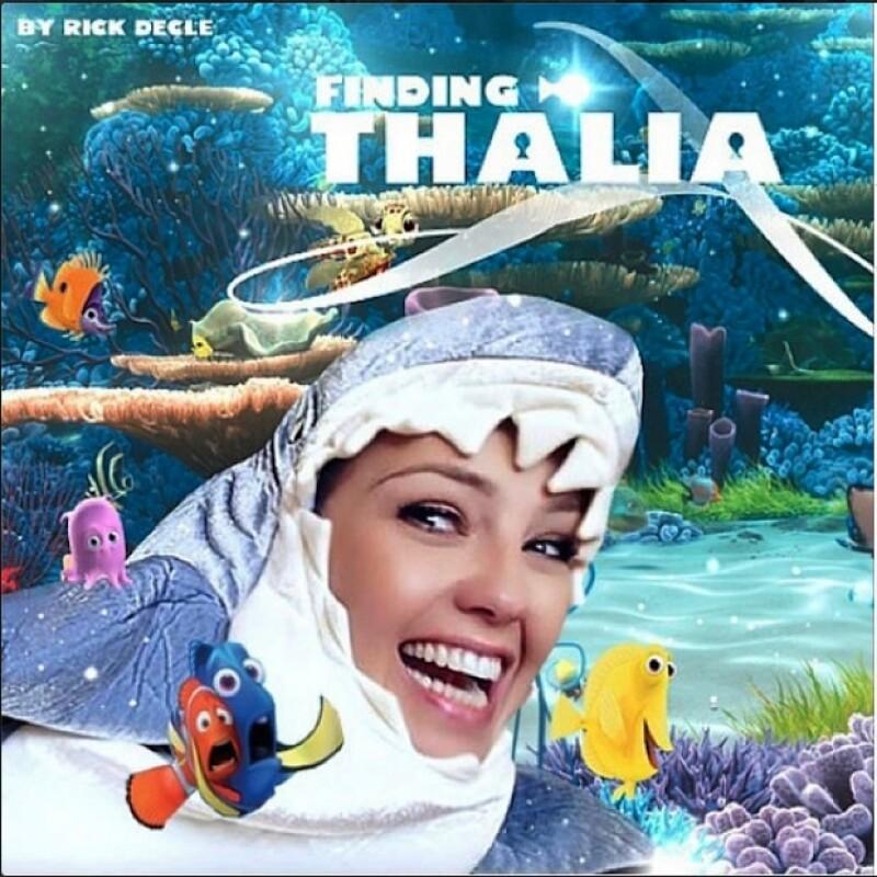 Thalía en una divertida foto editada.