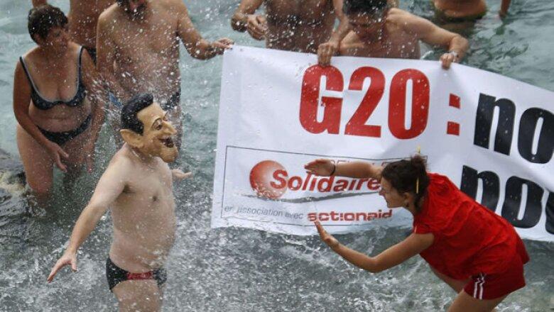Niza, en el sureste de Francia, ha sido epicentro de varias protestas contra la cumbre en Cannes.