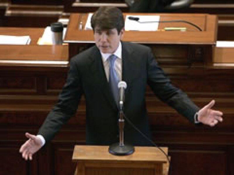 Rod Blagojevich habla durante su juicio político en el Senado de Illinois. (Foto: AP)