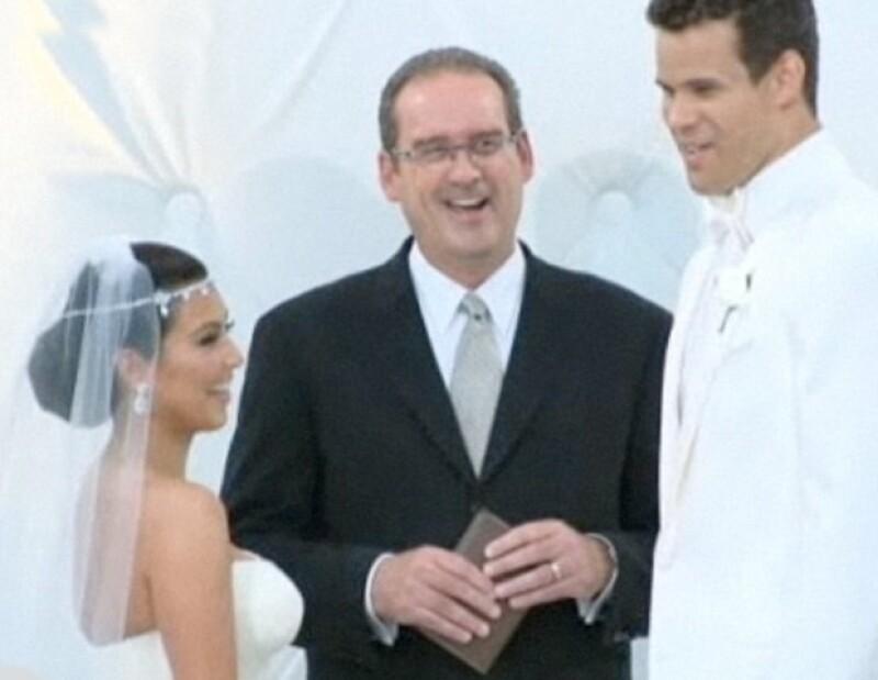 Kim y Kris se comprometieron en mayo de este año.