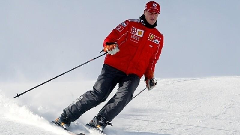 michael shumacher esquiando