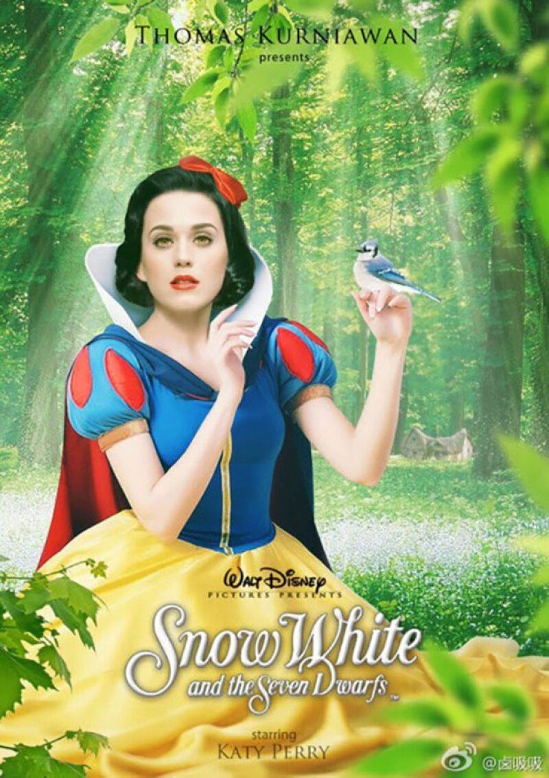 Katy Perry como Blancanieves.