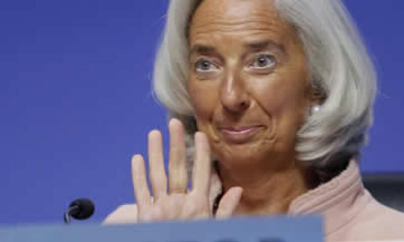 Christine Lagarde también habló sobre la discusión económica en EU. (Foto: Reuters)