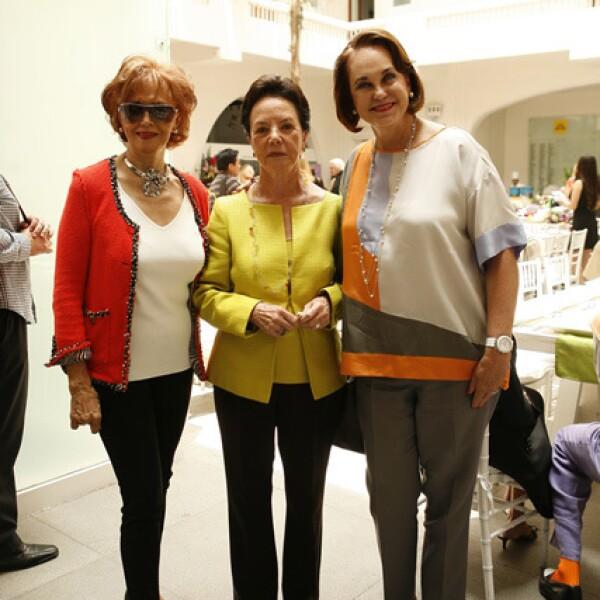 María Antonieta Navarro, Guadalupe Castro y Erika Hagsater