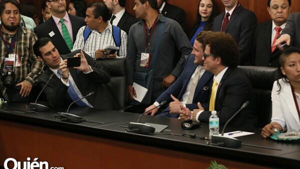 Miguel Torruco, Collin Watson y Romero Britto