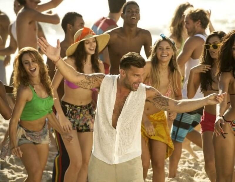 Ricky Martin se divirtió en grande al filmar en varias locaciones de Río de Janeiro.