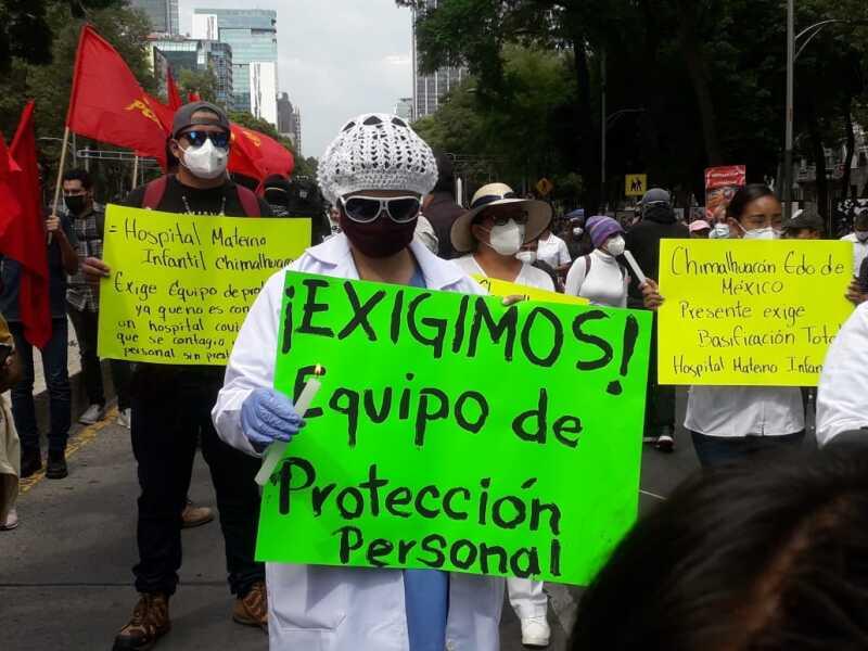Médicos en protesta