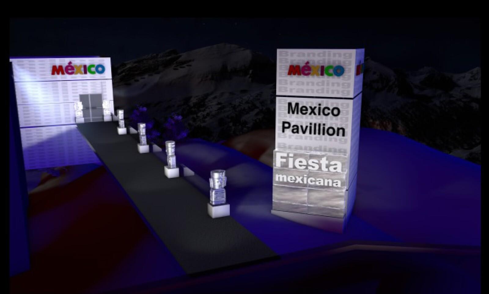 El Pabellón también contará con una sala para el presidente Felipe Calderón.