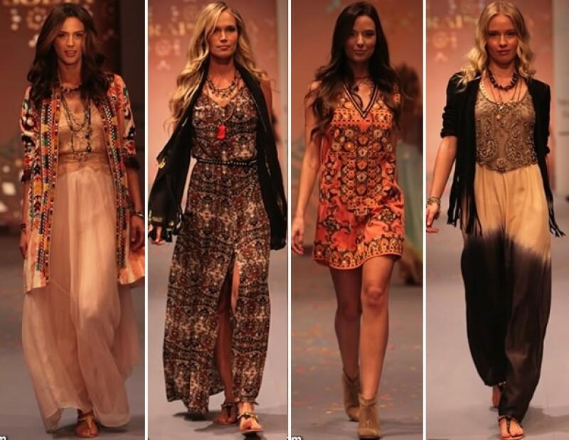 Inspiraciones de los años 60, siluetas etéreas y aires étnicos integraron las propuestas de Natalie Amkie, Alejandra Quesada y Rapsodia que presentaron sus gamas durante Mercedes Benz Fashion Week Mx.