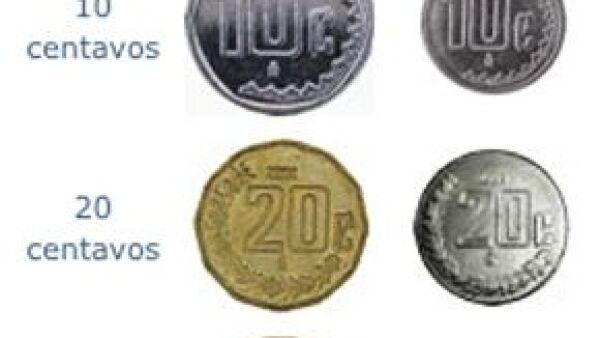 Con la emisión de las nuevas monedas, elaboradas con acero inoxidable el Banco de México (Banxico) obtendrá ahorros anuales por 300 millones de pesos.