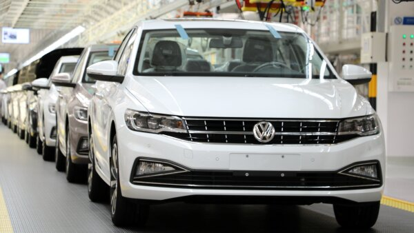 Volkswagen's Bora vehicles are seen at a production line at the FAW-Volkswagen plant in Qingdao