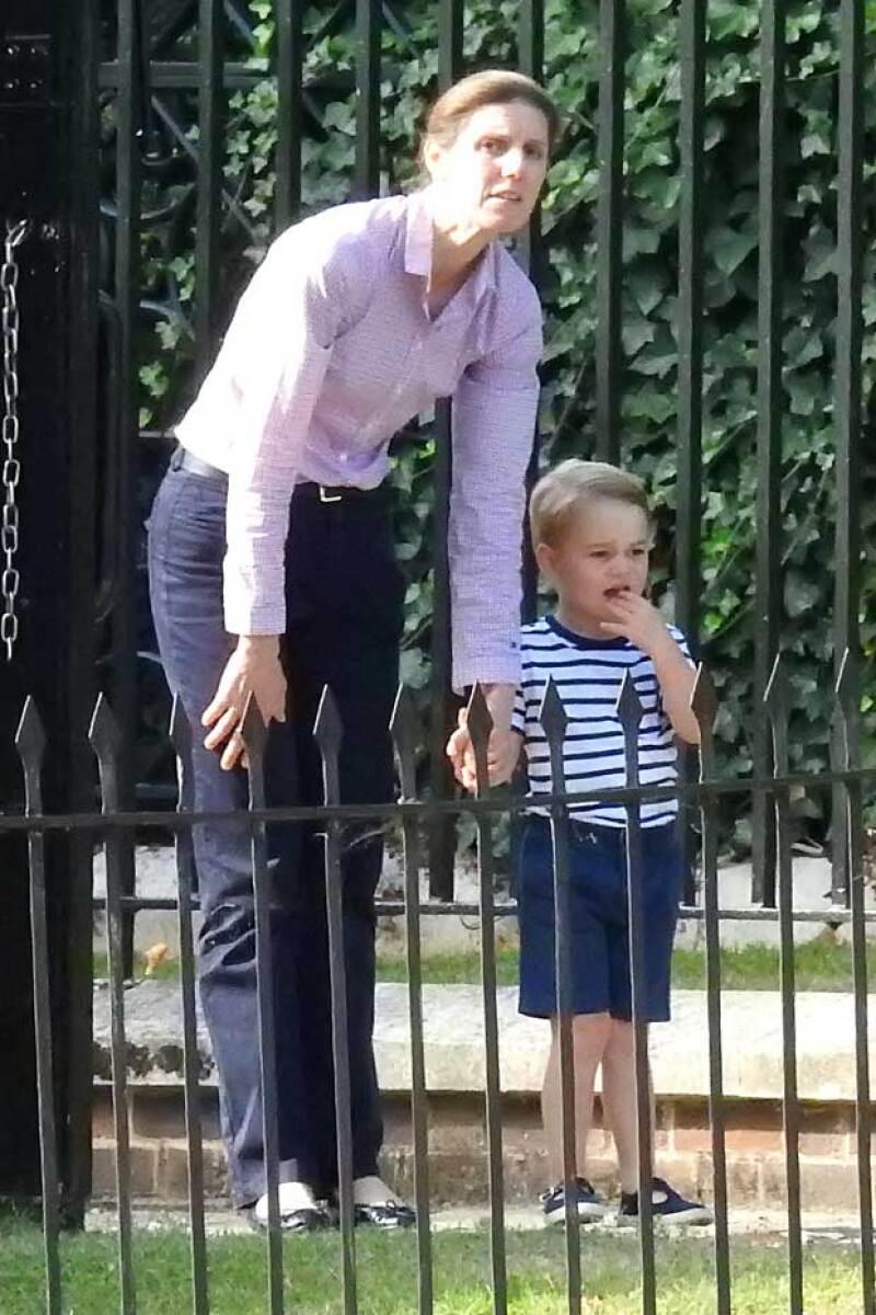 Esta fue la reacción de baby George.