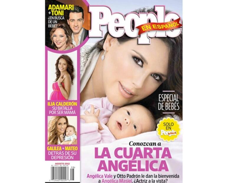 """La actriz y cantante concedió una reveladora entrevista acerca de su maternidad y posó en exclusiva para la revista con la que llaman """"la cuarta Angélica""""."""