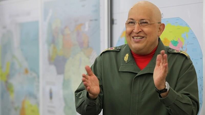 Hugo Chavez despues quimioterapia 2011
