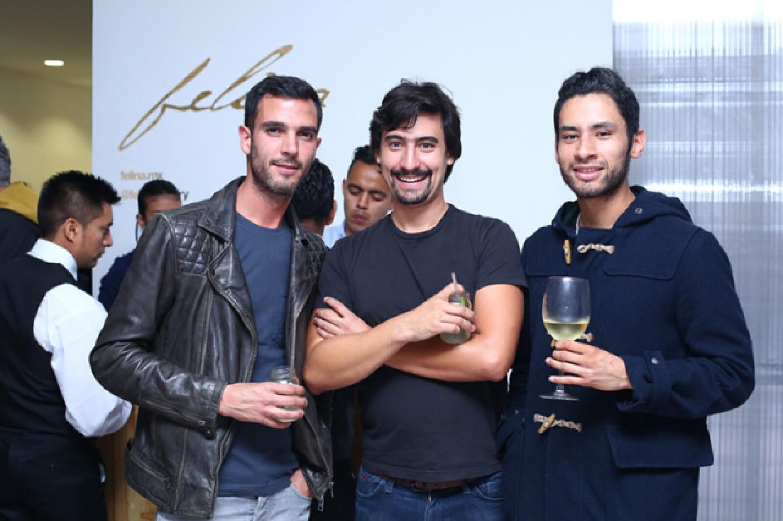 Fernando Palomar, Gabriel Carmona y Amaury Gutiérrez