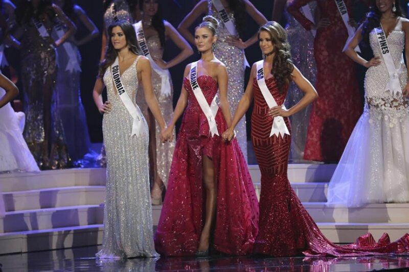 Las tres finalistas fueron Colombia, Ucrania y Estados Unidos