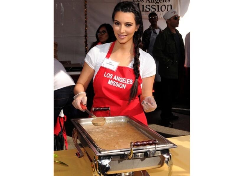 Kim Kardashian ahora hace labores altruistas.