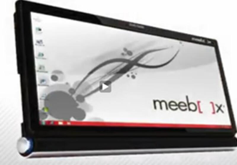 Meebox presentó al auditorio de Notimujer, en CNN en Español, su 'tablet'. (Foto: Especial)